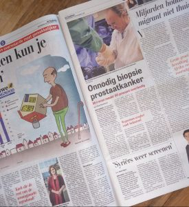 Biopsie Andros in Telegraaf 20171129